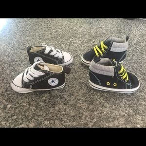 Baby converse chuck taylor shoes and carters hitop